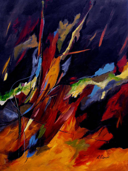 Gestural Painting - Take Action by Ruth Palmer