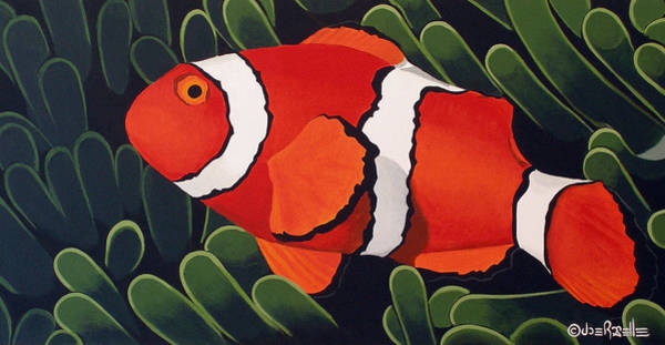 Clownfish Painting - Take Five by Joe Roselle