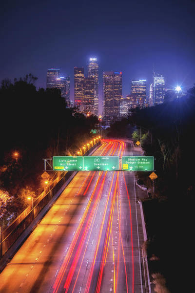 Los Angeles Skyline Photograph - Take Me Downtown by Aron Kearney