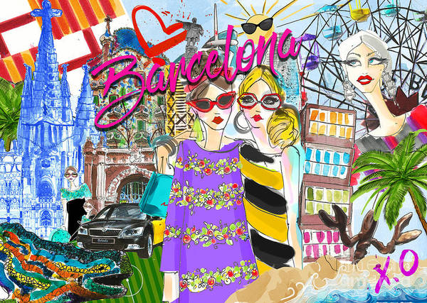 Barcelona Digital Art - Take Me To Barcelona  by MGL Meiklejohn Graphics Licensing
