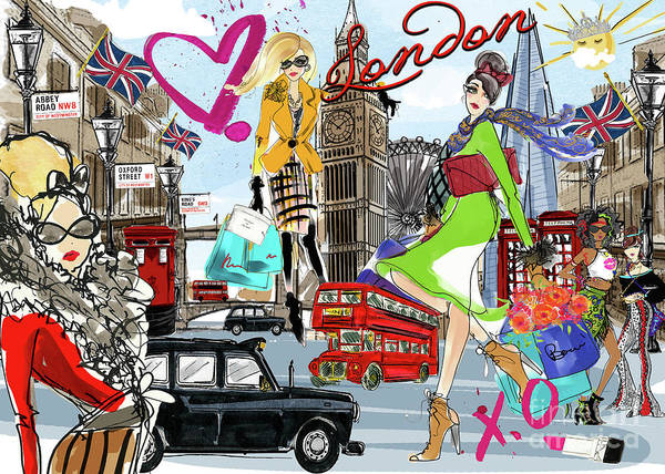 Wall Art - Digital Art - Take Me To London by MGL Meiklejohn Graphics Licensing