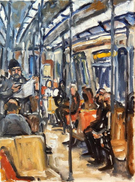 Painting - Take The A Train by Thor Wickstrom