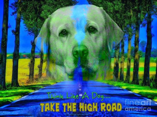 Digital Art - Take The High Road by Kathy Tarochione