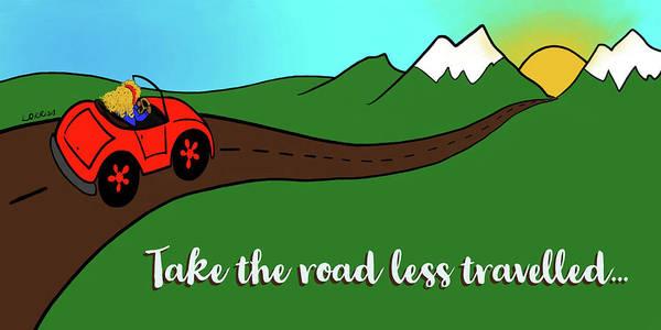 Digital Art - Take The Road Less Traveled by Lorrisa Dussault