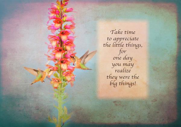 Photograph - Take Time - Blue by Lynn Bauer