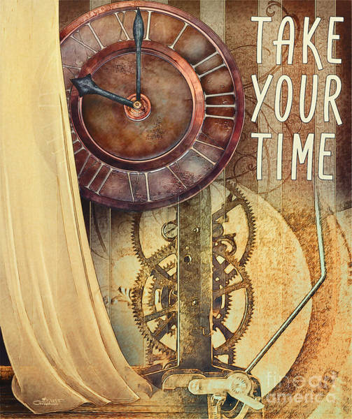Digital Art - Take Your Time by Jutta Maria Pusl