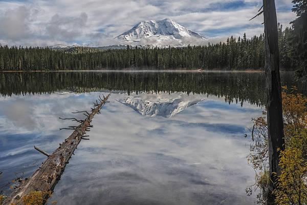 Photograph - Takhlakh Lake With Mount Adams by Loree Johnson