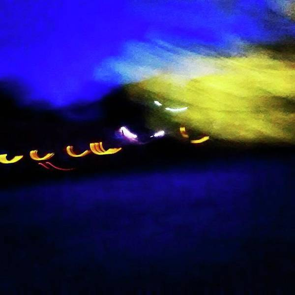 Wall Art - Photograph - Taking Flight. Abstract At Night. On by Genevieve Esson