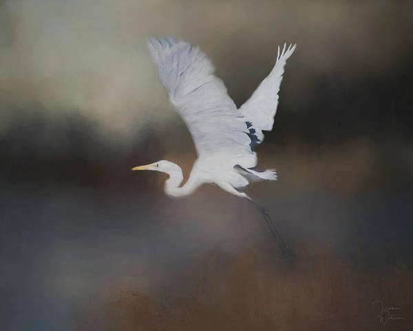 Heron Mixed Media - Taking Flight by Teresa Wilson