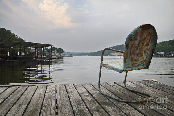 Grey Skies Wall Art - Photograph - Sittin' On The Dock  by Dennis Hedberg