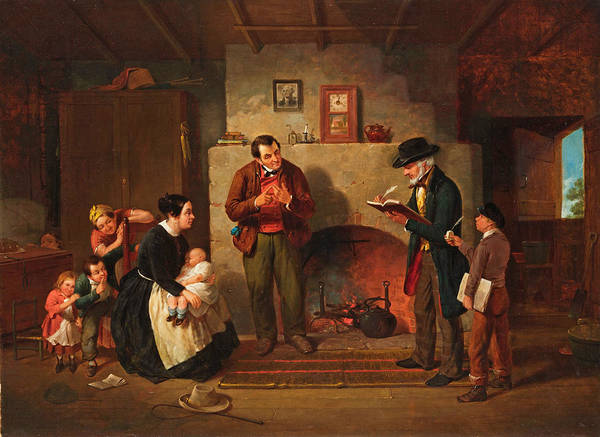 Census Painting - Taking The Census by Francis William Edmonds