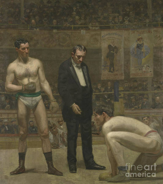 Boxing Painting - Taking The Count, 1898 by Thomas Cowperthwait Eakins