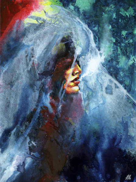 Wall Art - Painting - Taking The Veil 2 by Ken Meyer