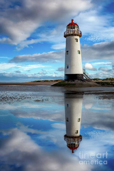 Wall Art - Photograph - Talacre Lighthouse Reflection by Adrian Evans