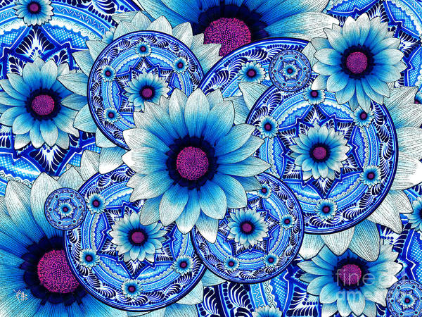 Art Print featuring the mixed media Talavera Alejandra by Christopher Beikmann