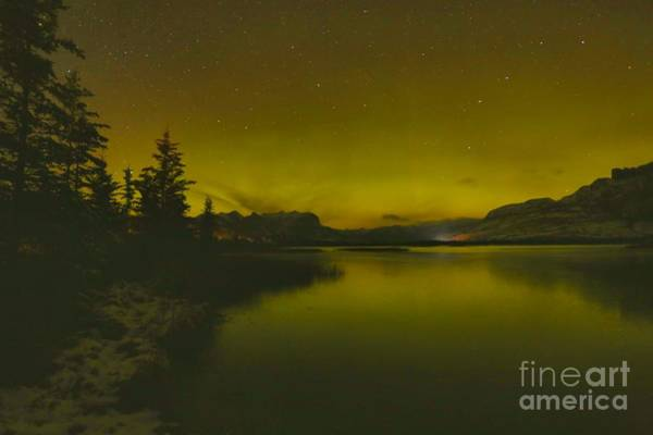 Photograph - Talbot Lake Northern Lights by Adam Jewell