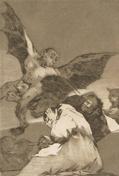 Relief - Tale-bearers--blasts Of Wind by Francisco Goya