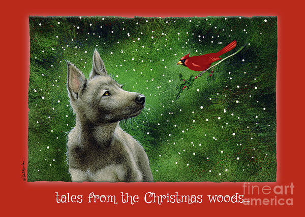 Wall Art - Painting - tales from the Christmas woods... by Will Bullas