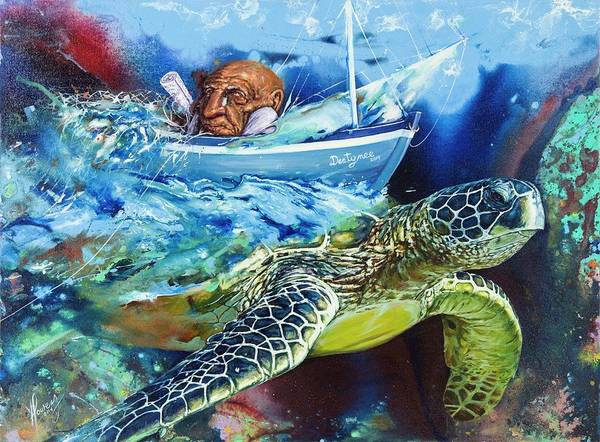 Painting - Tales Of The Sea by Yonier Powery