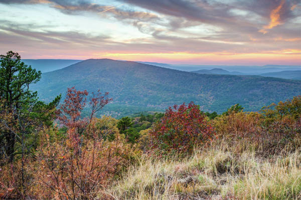 Photograph - Talimena Scenic Byway Mountain Sunset by Gregory Ballos