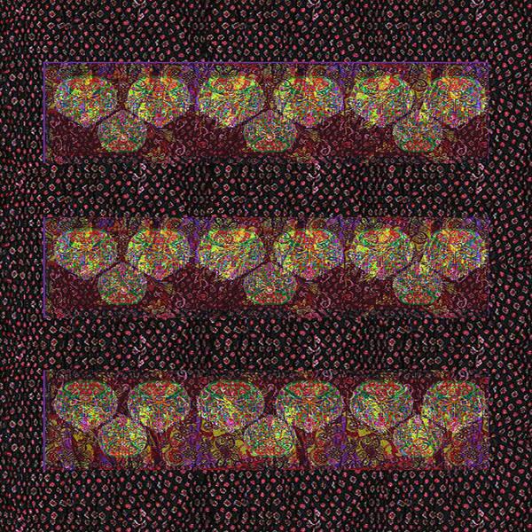 Admiration Mixed Media - Talking Point Art Fusion Graphic Art  Jaipur Fabric Beads Dots Texture Print And  Digital Art Graphi by Navin Joshi
