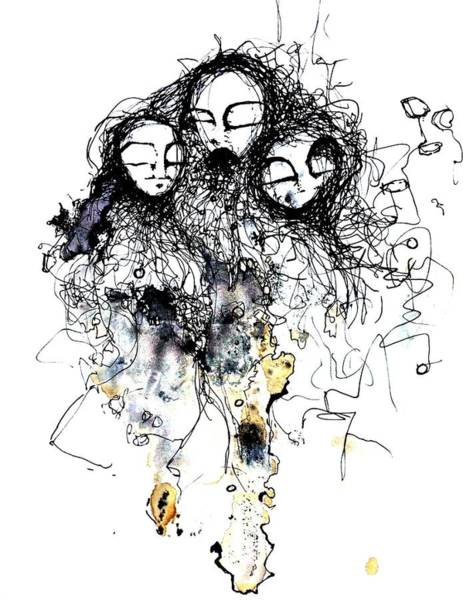 Pen And Ink Drawing Drawing - Talking To Yourself Again by Mark M  Mellon