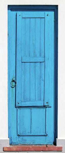 Photograph - Tall Blue Door by David Letts