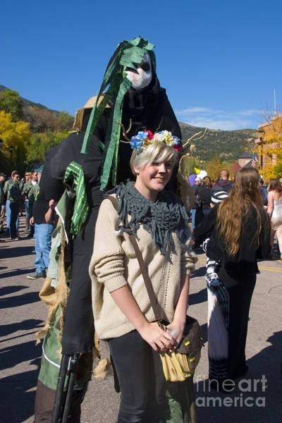 Photograph - Tall Ghouls At Emma Crawford Coffin Races In Manitou Springs Colorado by Steve Krull