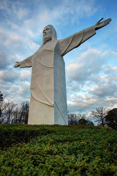 Photograph - Tall Jesus Christ Statue - Eureka Springs Arkansas by Gregory Ballos