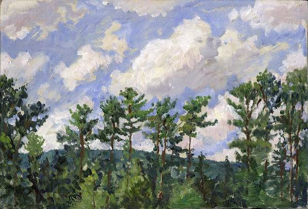 Painting - Tall Pines At Tanglewood by Thor Wickstrom