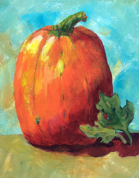 Painting - Tall Pumpkin by Hilda Vandergriff
