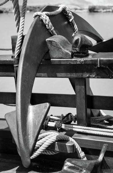 Wall Art - Photograph - Tall Ship Anchor by Dale Kincaid