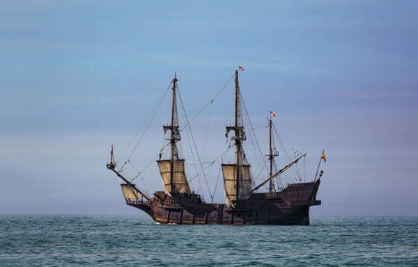 Photograph - Tall Ship El Galeon by Dale Kincaid