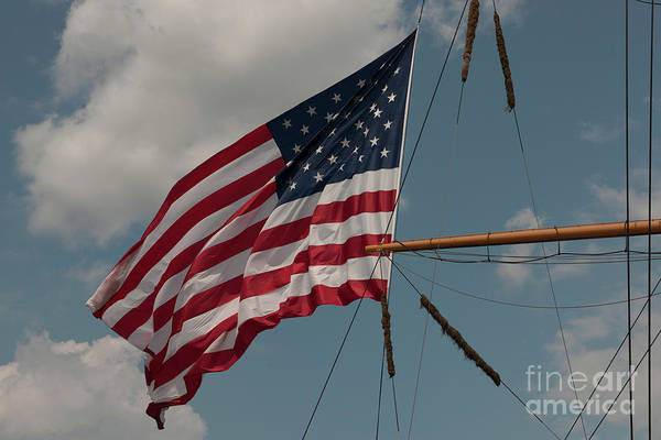 Photograph - Tall Ship Flag I by Dale Powell