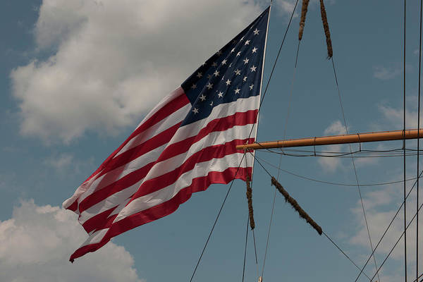 Photograph - Tall Ship Flag II by Dale Powell