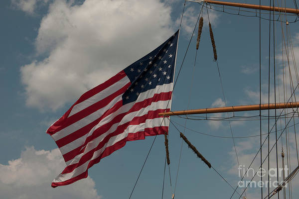 Photograph - Tall Ship Flag IIi by Dale Powell