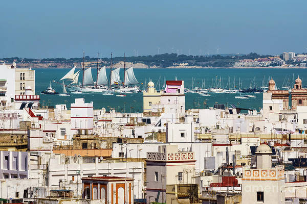 Photograph - Tall Ship Juan Sebastian Elcano Departing Cadiz Spain by Pablo Avanzini