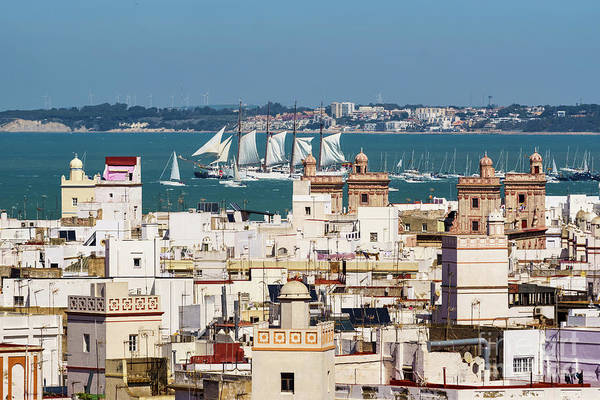 Photograph - Tall Ship Juan Sebastian Elcano Departs Cadiz Spain by Pablo Avanzini