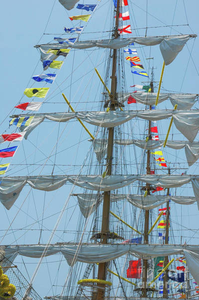 Photograph - Tall Ship Mast Flag Display by Dale Powell
