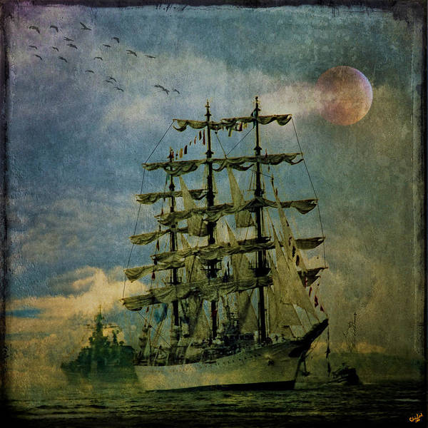 Photograph - Tall Ship New York Harbor 1976 by Chris Lord