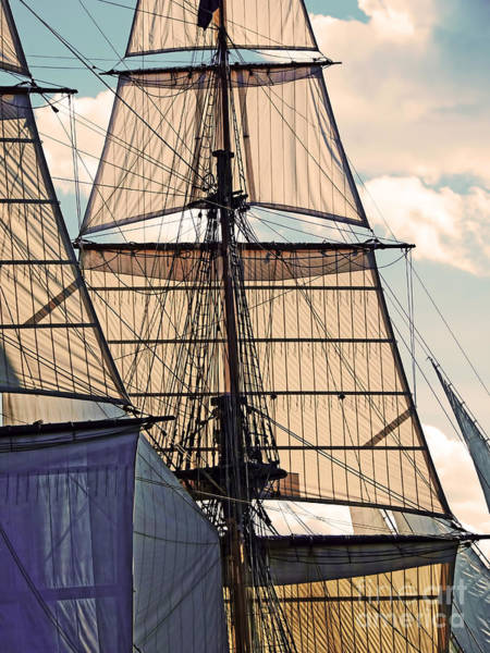 Digital Art - Tall Ship Sails I by Kathryn Strick