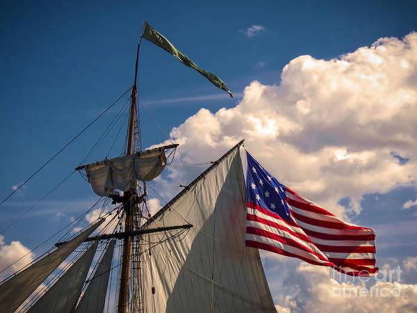 Digital Art - Tall Ship Sails II by Kathryn Strick