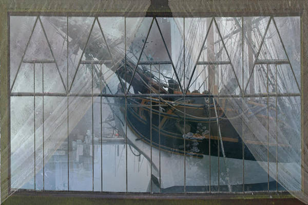 Port Townsend Digital Art - Tall Ship Through A Window by Jeff Burgess