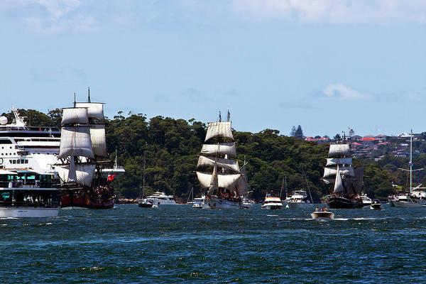 Swan Boats Photograph - Tall Ships And Australian Day by Miroslava Jurcik