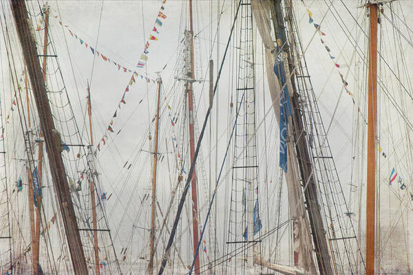 Photograph - Tall Ships And Schooners Rigging And Masts  by Joann Vitali