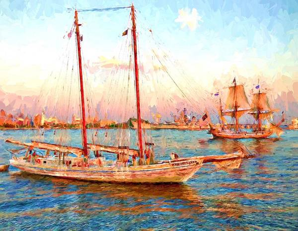 Photograph - Tall Ships In Philly by Alice Gipson