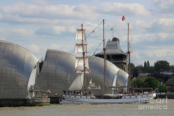 Photograph - Tall Ships Regatta Thames Barrier London Uk by Julia Gavin