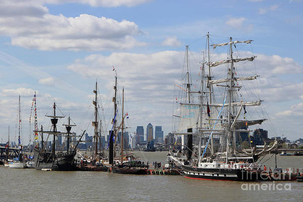 Photograph - Tall Ships Regatta Greenwich London Uk by Julia Gavin