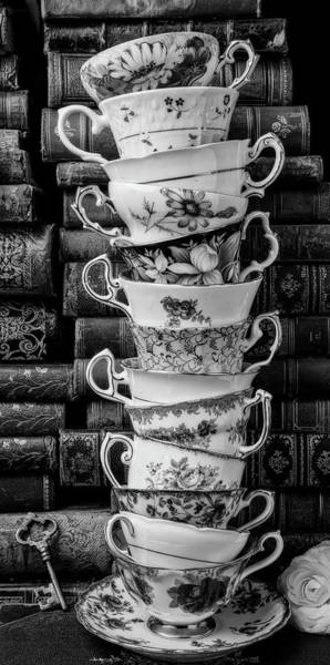 Wall Art - Photograph - Tall Stack Of Tea Cups by Garry Gay