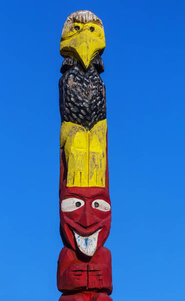 Totem Pole Wall Art - Photograph - Tall Totem Pole by Garry Gay